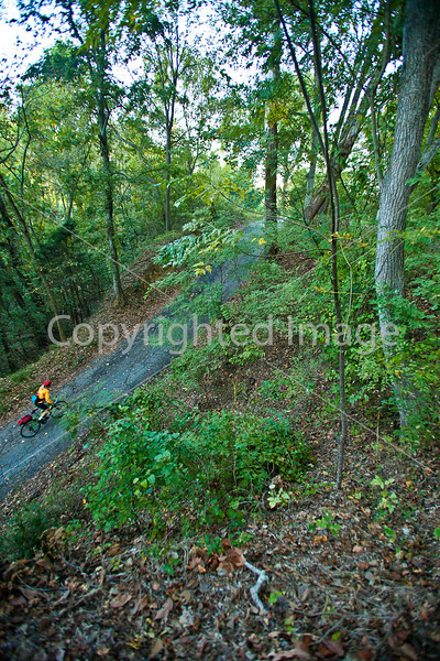 Biker on road to Fort Cobun at Grand Gulf Military Park, Mississippi - D1-C2 -0074 - 72 ppi