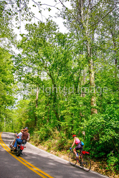 Thin-tire cyclist at Fort Pillow State Historic Area in Tennessee-0137 - 72 ppi