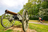 Thin-tire cyclist at Fort Pillow State Historic Area in Tennessee-0091 - 72 ppi