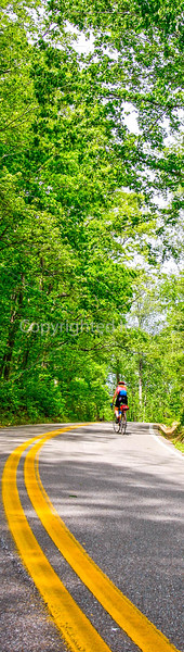 Thin-tire cyclist at Fort Pillow State Historic Area in Tennessee-2 - 72 ppi-4