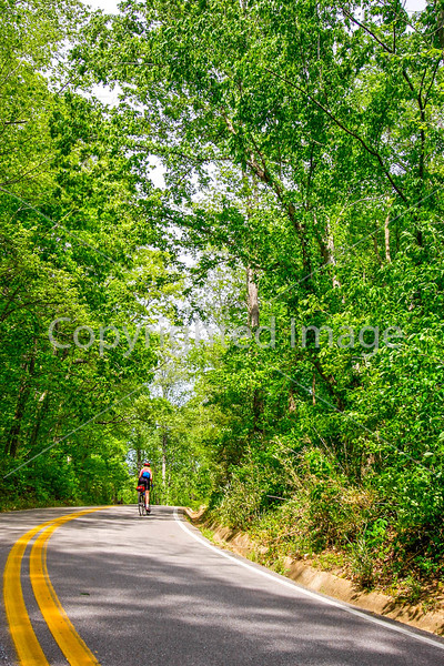 Thin-tire cyclist at Fort Pillow State Historic Area in Tennessee-0155 - 72 ppi