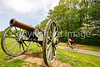 Thin-tire cyclist at Fort Pillow State Historic Area in Tennessee-0092 - 72 ppi