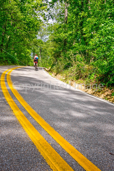 Thin-tire cyclist at Fort Pillow State Historic Area in Tennessee-0152 - 72 ppi