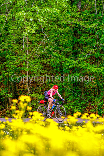 Thin-tire cyclist at Fort Pillow State Historic Area in Tennessee-0181 - 72 ppi
