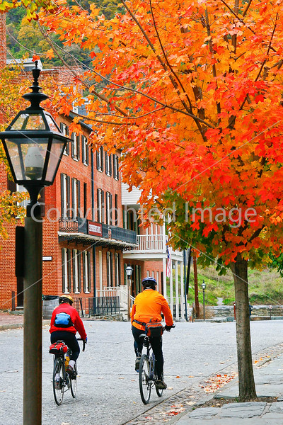 Cyclist(s) in Harpers Ferry Nat  Historical Park, WV-fall-3--0506 - 72 ppi