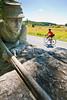 Cyclist at Gettysburg National Military Park, Pennsylvania-M3-0743 - 72 ppi