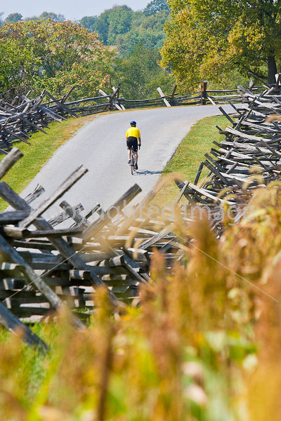Cyclist at Antietam National Battlefield, Maryland-M1--1449 - 72 ppi