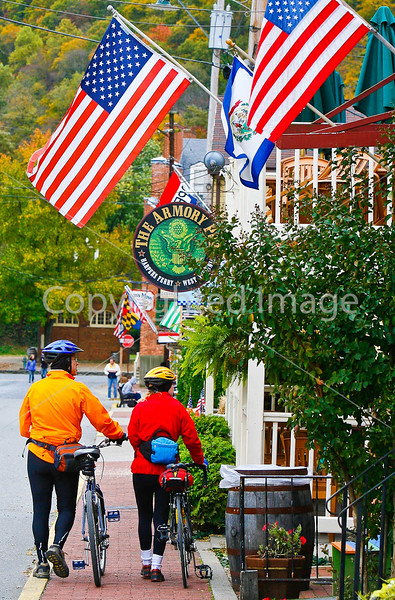 Cyclist(s) in Harpers Ferry Nat  Historical Park, WV-fall--1859 - 72 ppi