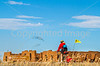 Cyclist at Fort Union National Monument, NM - D4-C1-0296 - 72 ppi
