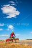 Cyclist at Fort Union National Monument, NM - D4-C3-0339 - 72 ppi
