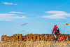 Cyclist at Fort Union National Monument, NM - D4-C1-0293 - 72 ppi