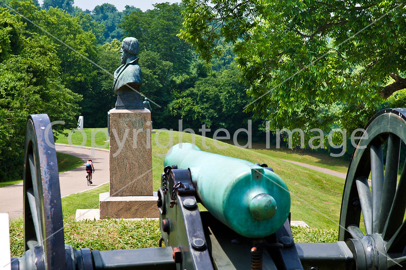 Cyclist in Vicksburg Nat'l Military Park, MS - D2-C3-0160 - 72 ppi