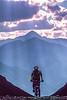 Biker at or near Ophir Pass on Colorado's Alpine Loop, between Silverton & Telluride - 40-Edit - 72 ppi