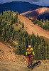 Biker at or near Ophir Pass on Colorado's Alpine Loop, between Silverton & Telluride - 59-Edit - 72 ppi-2