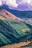 Biker at or near Ophir Pass on Colorado's Alpine Loop, between Silverton & Telluride - 46-Edit - 72 ppi