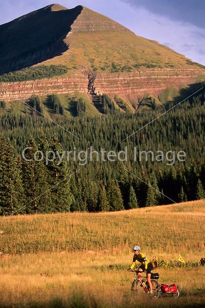 Tourer on dirt road near Lizard Head Pass & Telluride, Colorado - 1 - 72 ppi