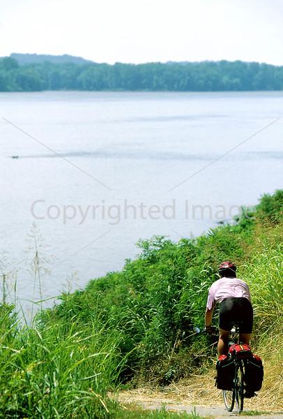 Cyclist along Ohio River near Golconda, IL - 12 - 72 ppi