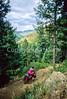 Mountain bike tourer on Colorado Trail - 2 - 72 ppi
