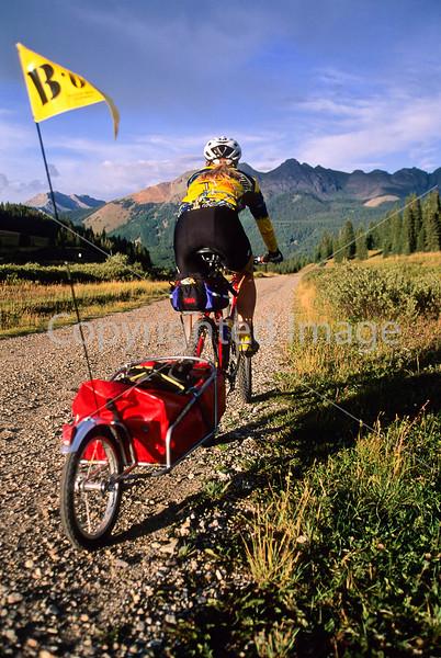 Tourer on dirt road near Lizard Head Pass & Telluride, Colorado - 2 - 72 ppi