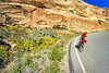 Thin-tire cyclist in Colorado Nat'l Monument, CO - 34 - 72 ppi
