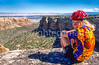 Thin-tire cyclist in Colorado Nat'l Monument, CO - 20 - 72 ppi
