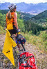 Cyclist at Ute Pass on Great Divide Trail near Silverthorne, Colorado - 8 - 72 ppi