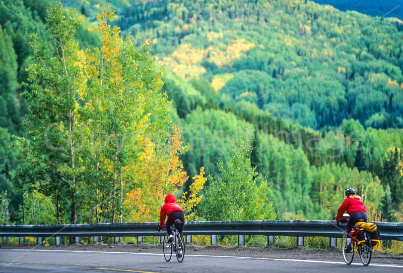 Thin-tire cyclist on US 550 between Silverton & Durango, CO - 18 - 72 ppi