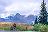 Thin-tire cyclist on US 550 between Silverton & Durango, CO - 16 - 72 ppi