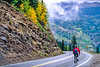 Thin-tire cyclist on US 550 between Silverton & Durango, CO - 6 - 72 ppi