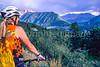 Biker in Colorado's San Juan Mts  on CO 145 between Telluride & Ophir - 2 - 72 ppi