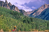 Biker in Colorado's San Juan Mts  on CO 145 between Telluride & Ophir - 4 - 72 ppi