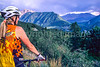 Biker in Colorado's San Juan Mts  on CO 145 between Telluride & Ophir - 2 - 72 ppi