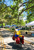 Touring cyclist in Mobile, Alabama on Bienville Square_mobi0146 - 72 ppi