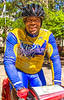 Cyclist on UGRR in downtown Mobile, Alabama-2 - 72 ppi