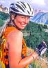 Biker in Colorado's San Juan Mts  on CO 145 between Telluride & Ophir - 3-2 - 72 ppi - final-2