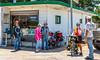 ACA - TransAm rider(s) with locals at Lizard Lips Grill & Deli north of Toronto,  Kansas - C3-0145 - 72 ppi-2