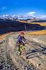 Mountain biker on Colorado's Alpine Loop - Lake City to Engineer Pass in San Juan Mts  - 28 - 72 ppi