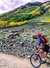 Mountain biker on Colorado's Alpine Loop - Lake City to Engineer Pass in San Juan Mts  - 19 - 72 ppi-2