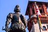 Statue of Don Pedro Menendez de Aviles, founder of St  Augustine, Florida, in 1565 - 2 - 72 ppi