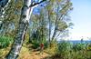 Biker on Minnesota's Gitchi-Gami State Trail on Lake Superior's western shore, near Split Rock Lighthouse - 5 - 72 ppi