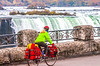 Touring cyclist viewing American side of Niagara Falls, NY-0580 - 72 ppi