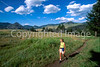 12 - Hiker on Hellroaring Trail in northern Yellowstone National Park, Wyoming