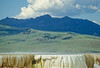 Yellowstone NP - Gallatin Range behind Mammoth Hot Springs - 1 - 72 dpi