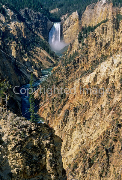 Yellowstone NP - Lower Falls of Yellowstone River - 3c - 72 dpi