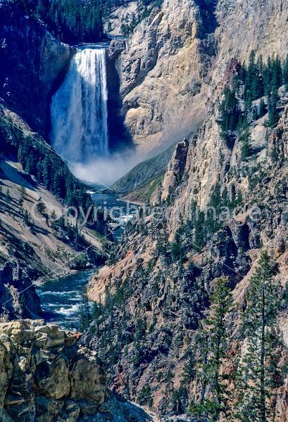 Yellowstone NP - Lower Falls of Yellowstone River - 2 - 72 dpi