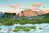 Glacier National Park, Montana, at dawn; near east entrance - C3 -0016 - 72 ppi
