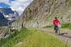 Glacier - ALA biker on Going-to-the-Sun Road - C3-0151 - 72 ppi