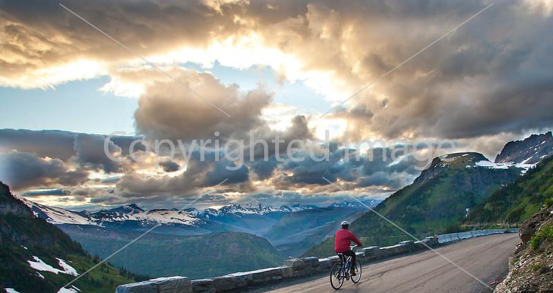 Glacier - ALA biker on Going-to-the-Sun Road-0026 - 72 ppi