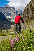 Glacier - ALA biker on Going-to-the-Sun Road -0155 - 72 ppi