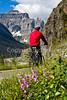 Glacier - ALA biker on Going-to-the-Sun Road -0155 - 72 ppi